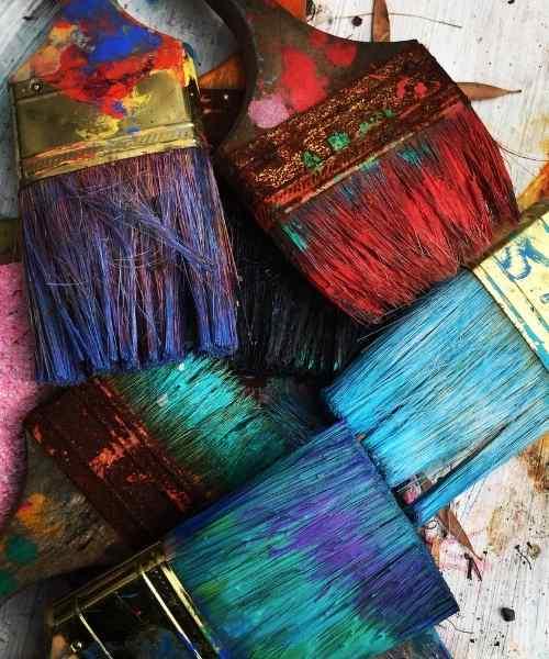 brochas de colores para vender arte online